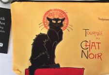 """Cosmetic Bag - """"Chat Noir""""  Design, Fabric, Gorgeous - Function with Style, NWT"""