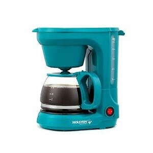 Kitchen Housewares 5-Cup Coffee Maker Teal Dining Small User-friendly Auto Pause