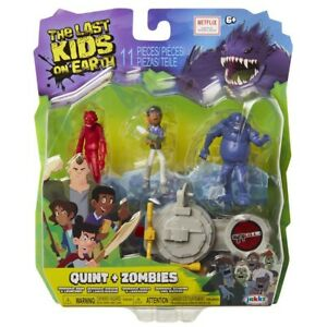 """Netflix The Last Kids On Earth Toys Quint + Zombies Action Figure 2.5""""- Playset"""