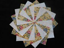 30 4x4 Yellow Quilt Fabric Squares~4058d