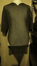 Steel chainmail shirt and coif