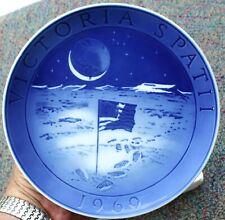 "1969 Royal Copenhagen Christmas Plate ""Moon Landing Victoria Spatii"" Denmark"