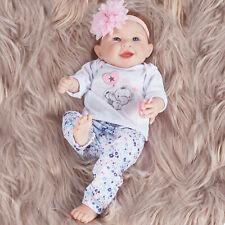 22'' Handmade Reborn Baby Doll Silicone Vinyl Realistic Newborn Girl Kids Toys