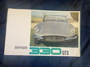 1966 1967 Ferrari 330 GTS Convertible Color Brochure Prospekt