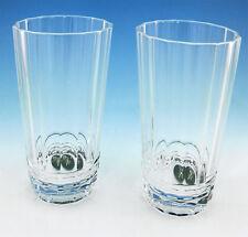Pair of RALPH LAUREN Celeste Handblown Crystal HIGHBALL Glasses 12oz