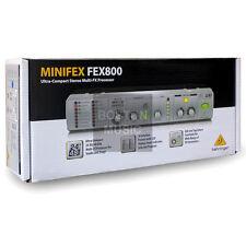 Behringer MiniFEX FEX800 Ultra 24-Bit Compact Stereo Multi-FX Prozessor neuwertig
