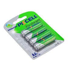 PKCELL 4 pzas / Tarjetas AA rehargeable Baterías Ni-MH 1.2v 2200mAh PILA PARA