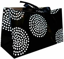 6 Black Polka Dot Gift Bags Present Bags with Handles Loot Party Birthday Bags