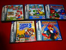EMPTY Replacement Cases! Super Mario Gameboy Advance 1 2 3 4 Kart GBA