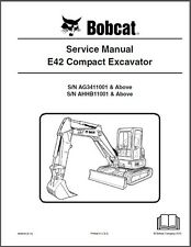 Bobcat E42 Compact Excavator Service Manual on a CD     -----     E 42