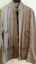 Un Solo Mondo antiqued leather jacket light brown Italian made size M