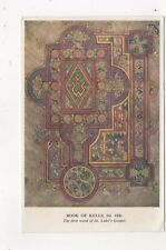 Book Of Kells First Word Of St Lukes Gospel Postcard 587a