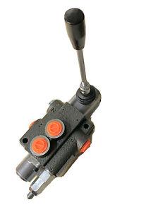 Hydraulic Monoblock 1 Bank 40 L/Min Lever Control Spool Valve Double Acting