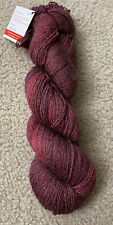Crabbapple Yarn Skein  Merino/Bamboo ;Color redsleeves 448 Yds