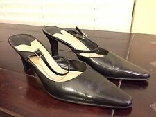WESTIES Woman's Shoes Size 7M Black Executive Heels Pumps Slingbacks
