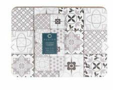 Set of 4 Tiles design Place mats & Coasters Dining Table Home Place Mats