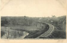 1908 A Bend In River and Railroad, Sac City, Iowa Postcard