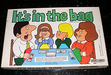 """VERY RARE Spears Game """"It's In The Bag"""" Patent Pending 1972"""