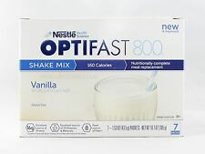 NEW FORMULA | OPTIFAST® 800 POWDER SHAKES | VANILLA | 1 CASE | 12 BOXES |