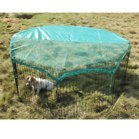 "8 Panel 24"" Pet Playpen w/Door & Cover Rabbit Enclosure Dog Cat Cage"