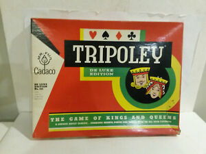 Tripoley Cadaco game 1965 dated never removed from the box Kings Queens #111