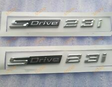 2x SDrive23i SDrive Letter Fender EMBLEM BADGE STICKER for BMW X1 X3 Z4 2.3i 23i