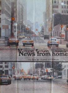 NEWS FROM HOME - CHANTAL AKERMAN - MANHATTAN / FEMINIST - ORIGINAL LARGE POSTER