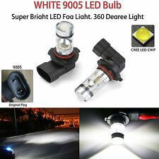 2x 9005 HB3 100W Cree LED Projector Fog Driving Lights 9006 Bulb HID White 6000K