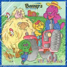 BARNEY Great Adventure LUNCH NAPKINS (16) ~ Vintage Birthday Party Supplies Farm