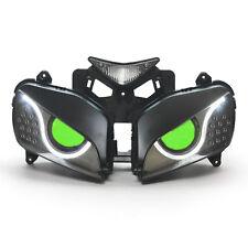 KT LED Angel Eyes HID Headlight Assembly for Honda CBR1000RR 2004-2007 V2 Green