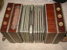"Interesting, old Concertina Bandoneon Bandonion Accordion ""B. Thiele Chemnitz"""