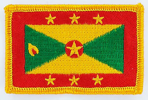 GRENADA FLAG PATCH PATCHES BADGE IRON ON NEW EMBROIDERED