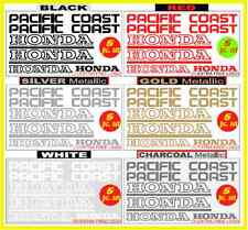 HONDA PACIFIC COAST PC 800 1989-95 REPLACEMENT DECAL EMBLEM KIT, FREE SHIPPING