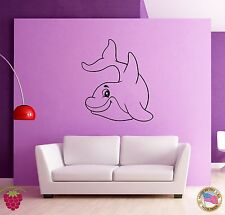 Wall Stickers Vinyl Dolphin Fish Ocean Marine Decor Living Room (z1646)