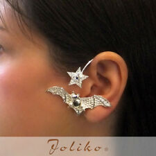 JoliKo Ohrklemme Ear cuff Star Bat Stern Fledermaus Nacht  Vampir Dracula LINKS