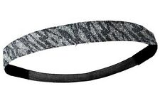 NEW Silver Zebra Glitter Headband Glittery Sport Run Softball Basketball