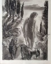 Albert Decaris encre lavis sur papier signée académie des beaux-arts mythologie