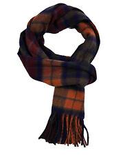 Buchanan Dark tartan cashmere scarf