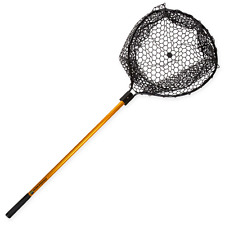 """56"""" Large Rubber Landing Net Retractable Pole Handle Catch and Release Fishing"""