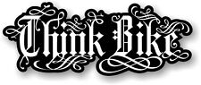 Energy Drink Style THINK BIKE Safety Warning car Biker Motorcycle sticker decal