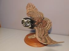 1990 Franklin Mint The Spectacled Owl By George Mcmonigle Porcelain Sculpture
