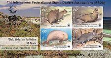 Australia 2011 WWF 50 Years Joint Issue MS - IFSDA 60th Anniversary VFMNH