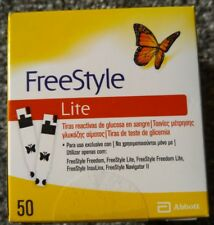 FreeStyle Lite testing strips - 50 Strips Exp 11/2019 BRAND NEW SEALED
