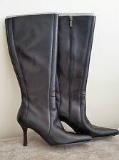 CARVELA LADIES BLACK LEATHER KNEE BOOTS - EUR 39 / UK 6 - Brand New