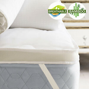 Airmax 1000GSM Bamboo Mattress Topper Queen Double King Single Machine Washable