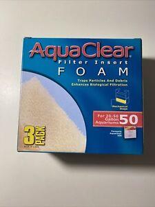 AquaClear 50 Foam Filter Inserts, Aquarium Filter Replacement Media, 3-Pack,