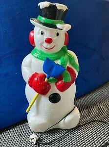 """Vintage Christmas Blow Mold 30"""" Snowman - Please read description"""