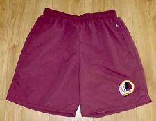 "NFL WASHINGTON REDSKINS-Sports/Casual Shorts-Maroon-Embroidered-34""Waist-NEW"