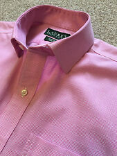 GORGEOUS RALPH LAUREN CLASSIC FIT NON IRON PINK PRINCE OF WALES CHECK SHIRT 15.5