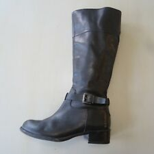Franco Sarto Womens Size 6 Corda Black Leather Boots Knee Tall Side Zip Buckle